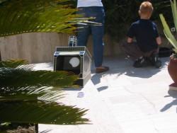 Zelfbouw projector was in Duitsland via internet gekocht